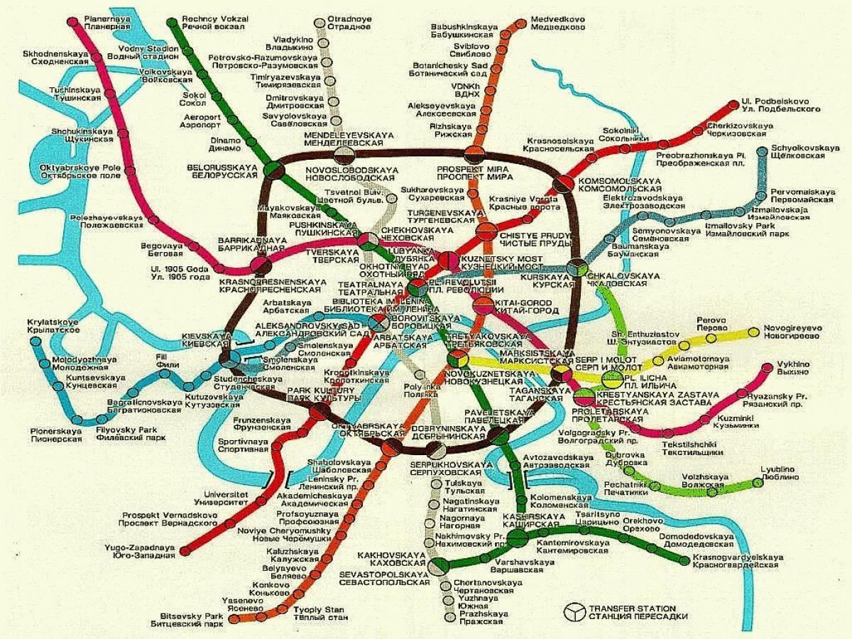 Moskva Zhp Karta Moskva Zhelezopten Kartata Rusiya